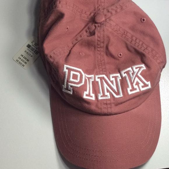 f7a7895f3854d Vs pink soft begonia soft rose baseball cap. NWT. PINK Victoria s Secret